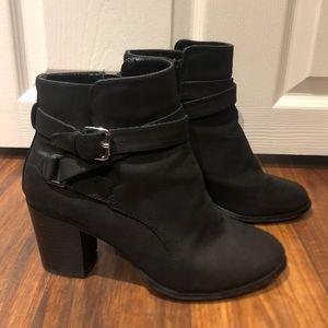 Black Heeled Ankle Booties